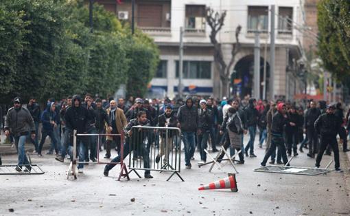 tunisia scontri belaid p