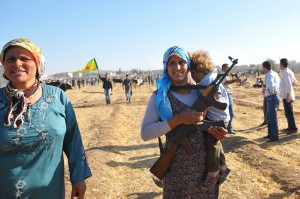 Syrian Kurds Fleeing The Islamic State Militants Cross Into Turkey