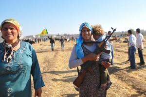 Syrian Kurds Fleeing The Islamic State Militants Cross Into Turkey